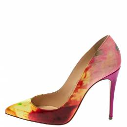 Christian Louboutin Multicolor Marble Patent Leather So Kate Pointed Toe Pumps Size 36.5 295859