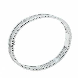 Van Cleef&Arpels Perlée Diamond 3 Row 18K White Gold Bracelet M 295988