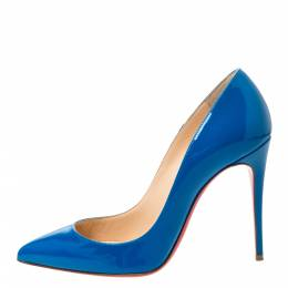 Christian Louboutin Blue Patent Leather So Kate Pumps Size 36.5 295895