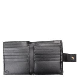 Gucci Black Guccissima Leather Bow Signature Wallet 293818