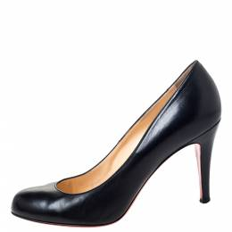 Christian Louboutin Black Leather Fifille Pumps Size 38 295938