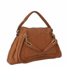 Chloe Brown Leather Paraty Satchel Bag 291267