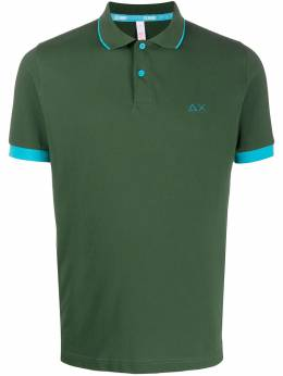Sun 68 logo polo shirt A30114