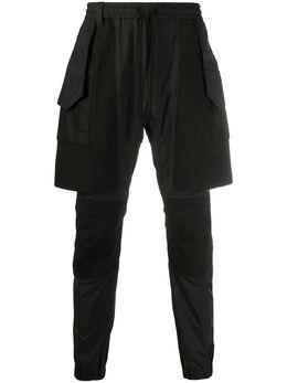 White Mountaineering брюки со вставкой-шортами WM2071409