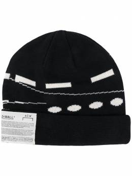 A-Cold-Wall* abstract patterned logo patch hat ZCBBLW