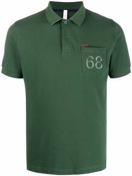 Sun 68 68 patch pocket polo shirt A30105