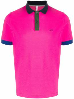 Sun 68 logo polo shirt A30108