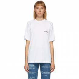 Vetements White Logo Front Back T-Shirt UAH21TR501