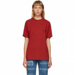 Vetements Red Logo Front Back T-Shirt UAH21TR501