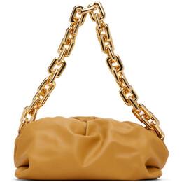 Bottega Veneta Yellow The Chain Pouch Clutch 620230 VCP40