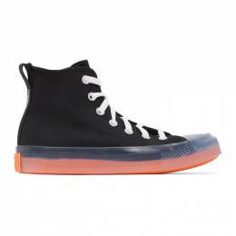 Converse Black and Pink Chuck Taylor All Star Sneakers 167809C