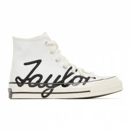 Converse White Signature Chuck 70 High Sneakers 167696C