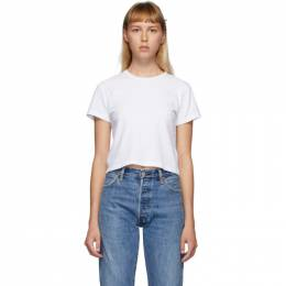 Re/Done White Hanes Edition Heritage 1950s Boxy T-Shirt 024-2WBX5
