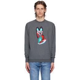 Maison Kitsune Grey ACIDE Fox Sweatshirt EU00351KM0015