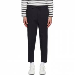 Maison Kitsune Navy City Trousers EM01111WW0013