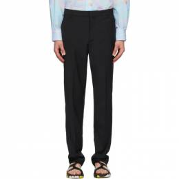 Maison Kitsune Black Large Tailored Trousers EM01110WT0010