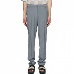 Maison Kitsune Grey Large Tailored Trousers EM01110WT0010