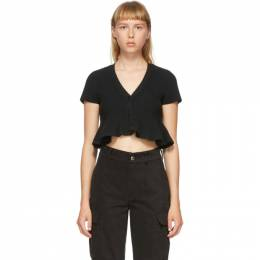 T By Alexander Wang Black Cropped Cardigan 4KC2203022