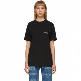 Vetements Black Logo Front Back T-Shirt UAH21TR501