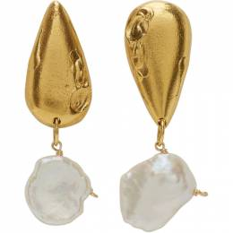 Alighieri Gold Pearl The Fear And The Desire Earrings FJ5157 BRZ