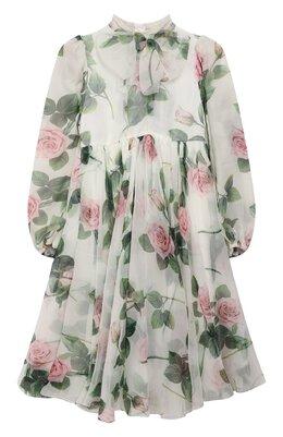 Шелковое платье Dolce&Gabbana L52DC6/IS1BC/8-14