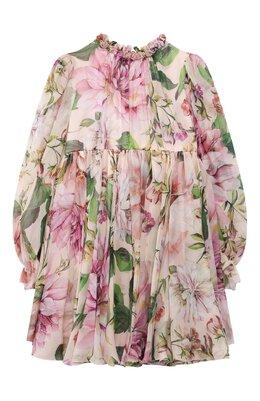 Шелковое платье Dolce&Gabbana L52DE9/IS1AF/2-6