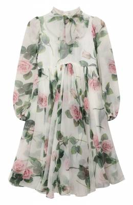Шелковое платье Dolce&Gabbana L52DC6/IS1BC/2-6