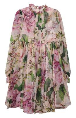 Шелковое платье Dolce&Gabbana L52DE9/IS1AF/8-14