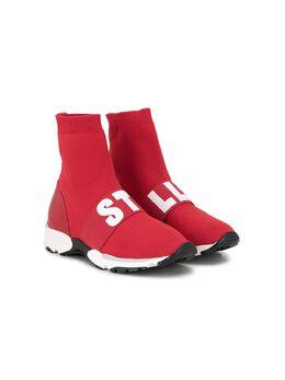 Stella McCartney Kids logo sock sneakers 599298TEENSOD31