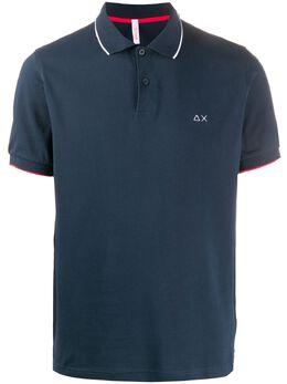 Sun 68 рубашка поло с вышитым логотипом A30106