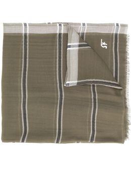 Salvatore Ferragamo полосатый шарф с бахромой 733264