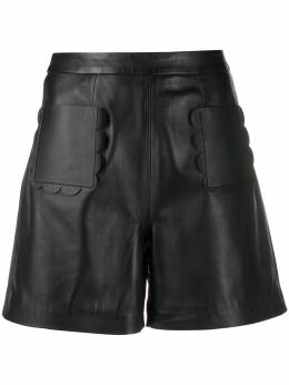 Red Valentino scalloped trim high-waisted shorts TR3NH00L4SV