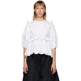 Cecilie Bahnsen White Marie Blouse PF20-0010