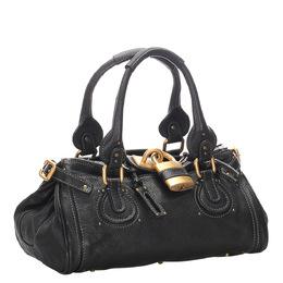 Chloe Black Leather Paddington Satchel Bag 295456