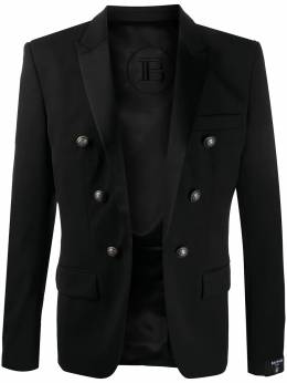 Balmain double-breasted peaked lapels blazer UH17746W050