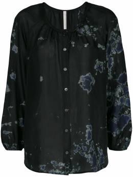 Raquel Allegra блузка с абстрактным принтом Y018260TD