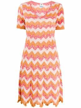 M Missoni платье с узором зигзаг 2DG004122K005M