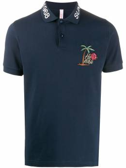 Sun 68 embroidered-detail polo shirt A30125