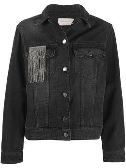 Christopher Kane джинсовая куртка с бахромой из кристаллов PF20JK776AREFERKHOLDENIMBLACK