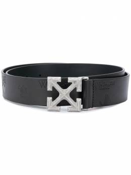 Off-White ARROW LEATHER BELT BLACK METAL OMRB046E20LEA0011078
