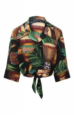 Шелковая рубашка Dolce&Gabbana F5N11T/IS1D2