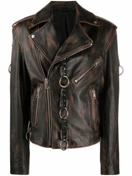 Manokhi декорированный жакет Morgan AW20MANO286A2196MORGANJACKETBLACKBROWN