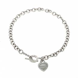 Tiffany & Co. Return to Tiffany Heart Tag Silver Toggle Necklace 296210