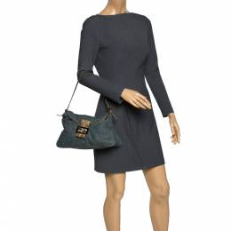 Fendi Blue Denim and Python Mama Baguette Bag Gucci 295799