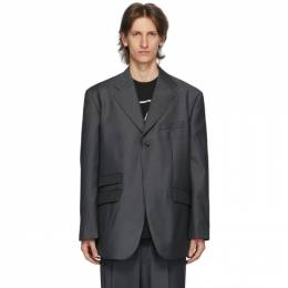 We11Done Grey Single-Breasted Blazer WD-JK7-20-019-M-CH