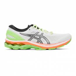 Asics White and Green Gel-Kayano 27 Lite-Show Sneakers 1011A885