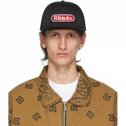 Rhude Black and Red Pit Stop Trucker Cap RHU06PS20100