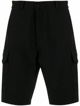 Ami Paris шорты-бермуды с логотипом и карманами карго A20HT730247