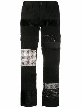 Junya Watanabe Comme Des Garcons Pre-Owned укороченные брюки 2000-х годов JUN600