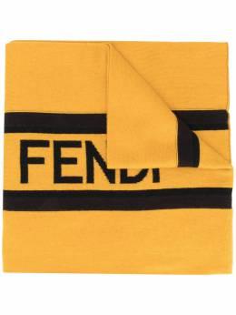 Fendi шарф вязки интарсия с логотипом FXS124ACHR